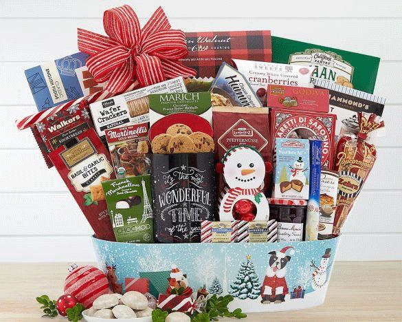 Festive Holiday Gourmet Gift Basket
